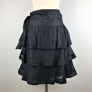 Club Monaco Tiered Full Skirt with Tie Size 4